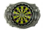 DARTBOARD BELT BUCKLE + display stand.
